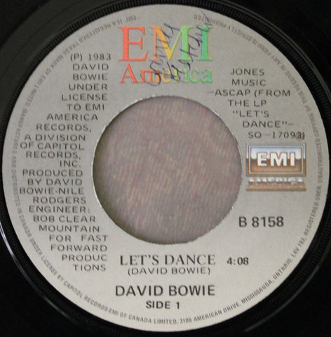 "David Bowie ‎– Let's Dance -1983-pop Rock - Vinyl, 7"", 45 RPM, Single"