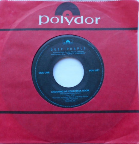 "Deep Purple ‎– Knocking At Your Back Door - 1984- Hard Rock - Vinyl, 7"", 45 RPM, Single"