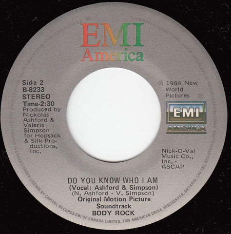 Maria Vidal / Ashford & Simpson ‎– Body Rock / Do You Know Who I Am - 1984-Electronic, Funk / Soul - Vinyl, 7""