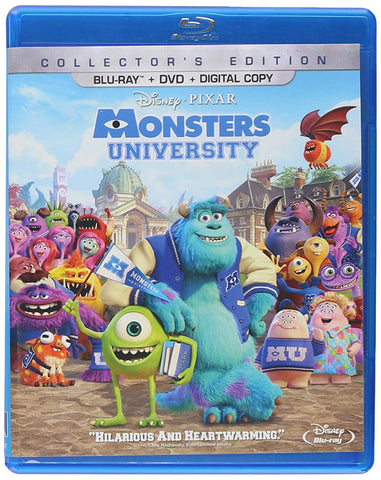 Monsters University: Collector's Edition (Bilingual) [Blu-ray + DVD + Digital Copy] Mint Used