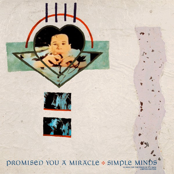 "Simple Minds ‎– Promised You A Miracle - Vinyl, 12"", 45 RPM, Single, Limited Edition  (Synth Pop Vinyl)"