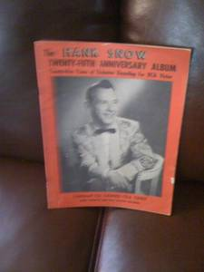 Hank Snow 25th Ann Book signed by Wilf carter, Jimmy Dickens