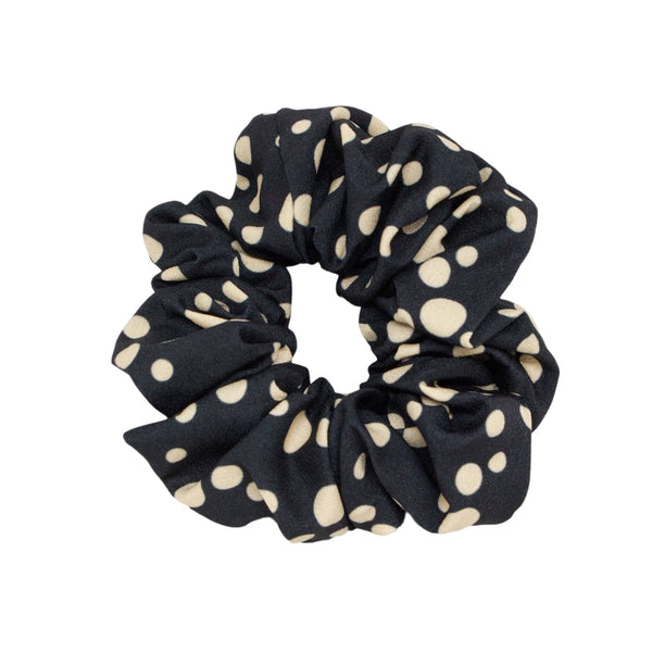 Lindi Kingi | Winter  Spot Scrunchie - Black | Shut the Front Door