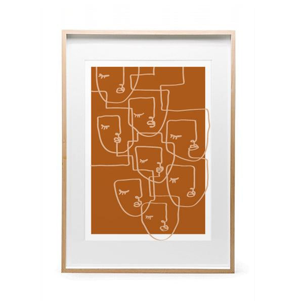 Calm Print A3 - Mustard *Excludes Frame*