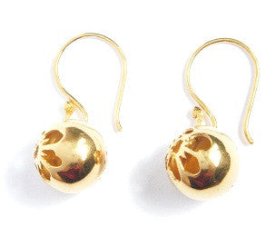 03.Tiny Flowersphere Hook Earrings