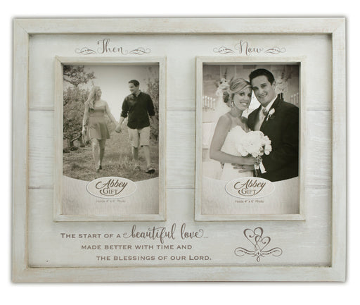 Picture Frame - Then and Now Anniversary Frame - Love the Lord Inc