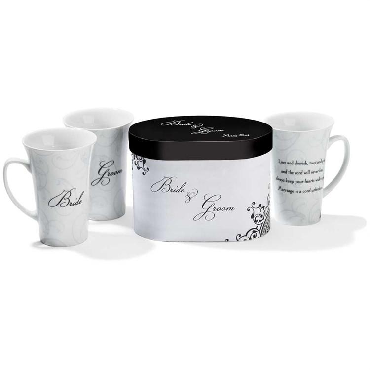 Christian Mug - Bride and Groom Set in Gift Box - Love the Lord Inc