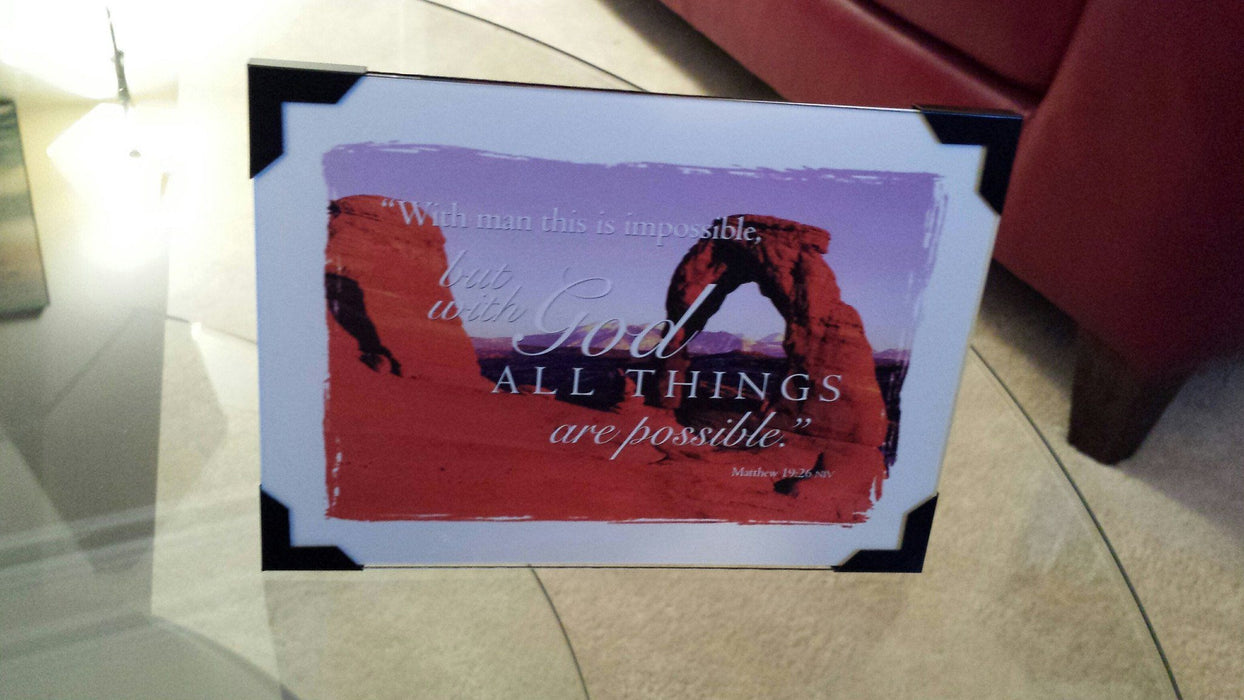 "Scripture Gift - ""With God All Things Are Possible"" - Love the Lord Inc"