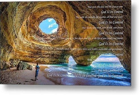 God Is In Control - Metal Print - Love the Lord Inc