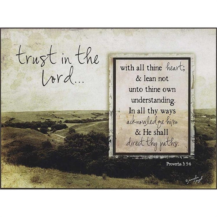 Photo Frame - Trust In The Lord With All Thine Heart - Love the Lord Inc