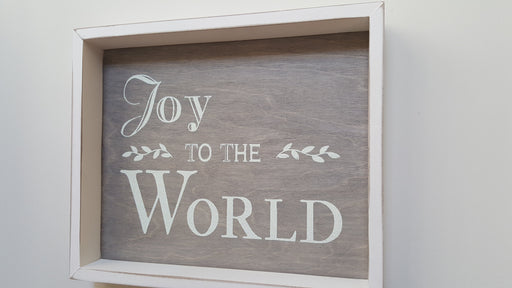 Wall Art - Frame Joy To The world - Love the Lord Inc