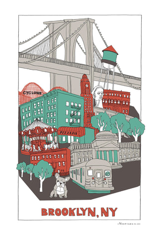 Brooklyn City Kitchen Towel