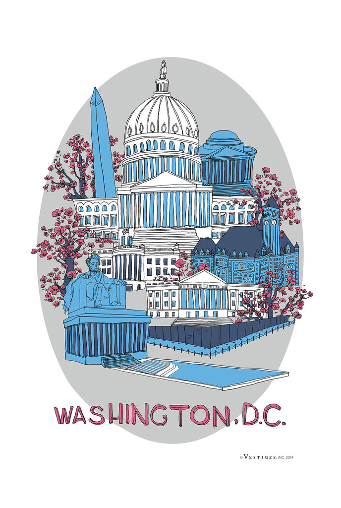 Washington D.C. City Kitchen Towel
