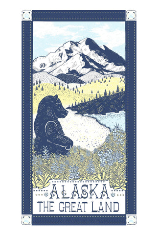 Alaska: The Great Land Region Kitchen Towel