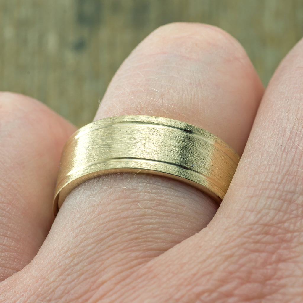 Double Channel Wedding Ring