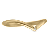 Vivian, Diamond and 14k Yellow Gold Wedding Band