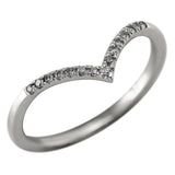 Grey Diamond Vivian V Band, 14k White Gold
