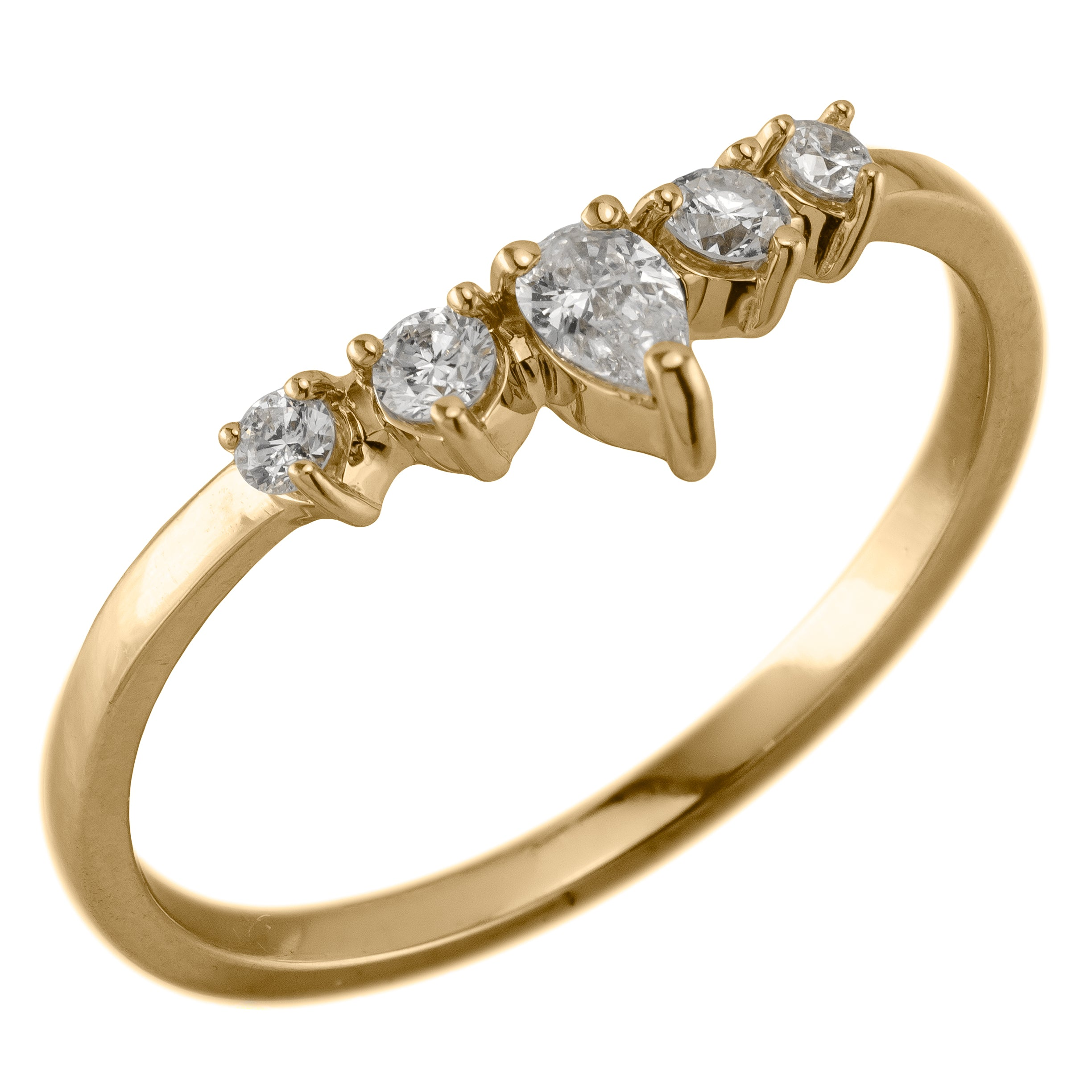 Cassiopeia, Diamond and Yellow Gold Wedding Band