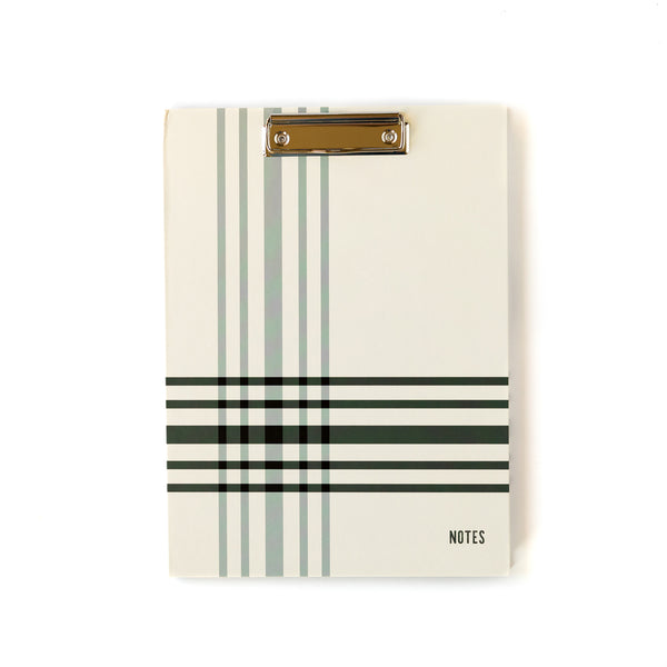 Black & Grey Plaid Notes Padfolio
