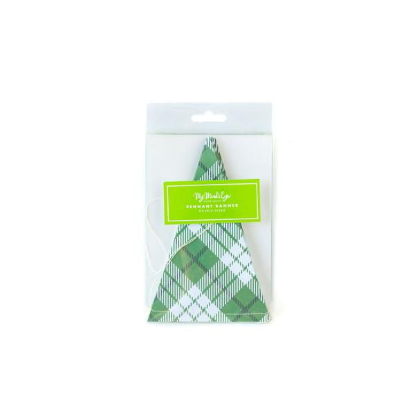 Green Plaid Banner