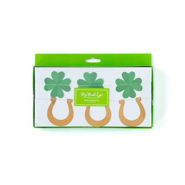Shamrocks & Horseshoes Banner Set