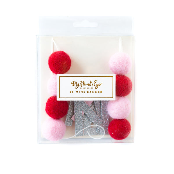 Valentines Felt Ball Banner Packaging
