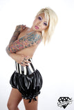 High Waisted Striped Latex Pantaloons