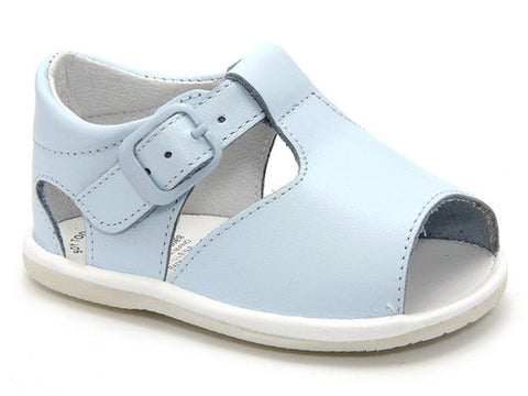 Casual Sandals Blue for Boys and Girls Leather Patucos Shoes for Baby
