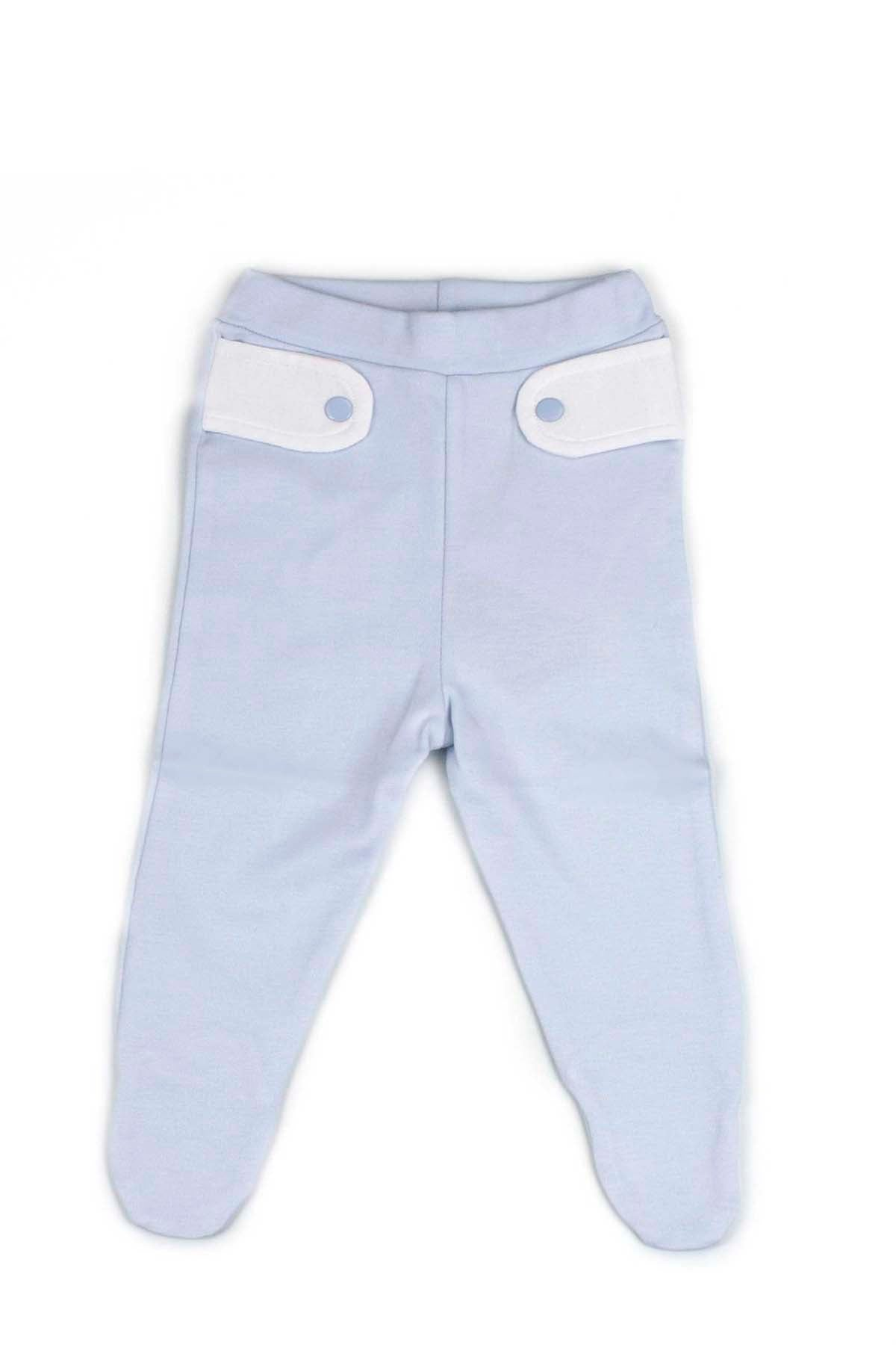 Blue Pants with white details in the top Pima Cotton