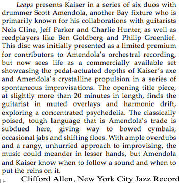 Scott Amendola | Henry Kaiser - Leaps CD