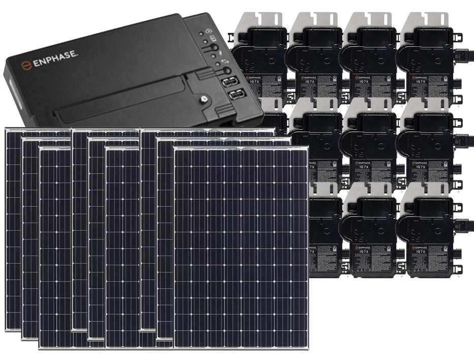 Residential Grid-Tied Panasonic 335W Solar Panel System Kit