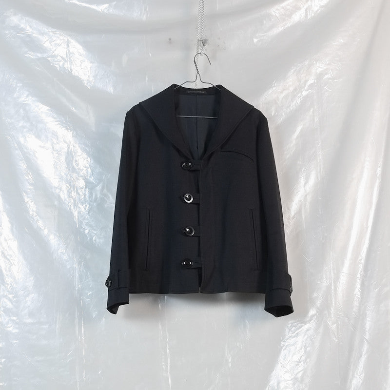 brushed cotton sailor jacket