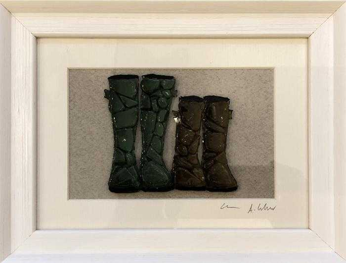 Two Pairs of Welly Boots