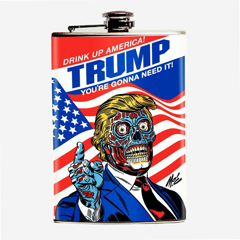 "Trump ""Drink Up, America!"" Flask - Domestic Platypus"