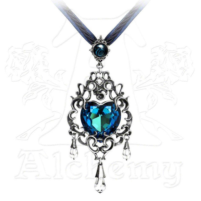 Alchemy Gothic EMPRESS EUGENIE'S BLUE HEART Pendant - Domestic Platypus