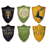 Game of Thrones House Crest Pillow Set #2: Greyjoy, Baratheon & Tyrell - Domestic Platypus