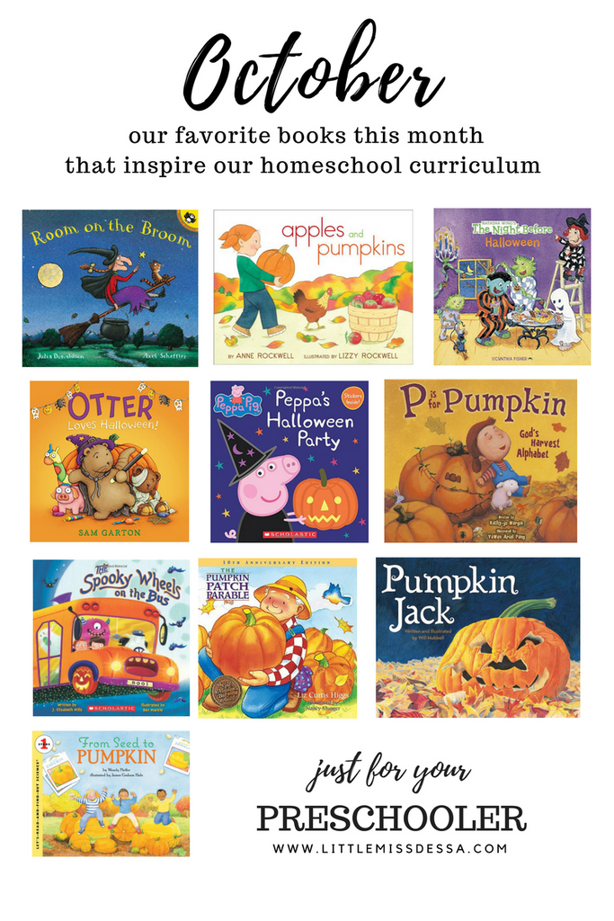 Homeschool with Liv & Grey | October - Favorite Books