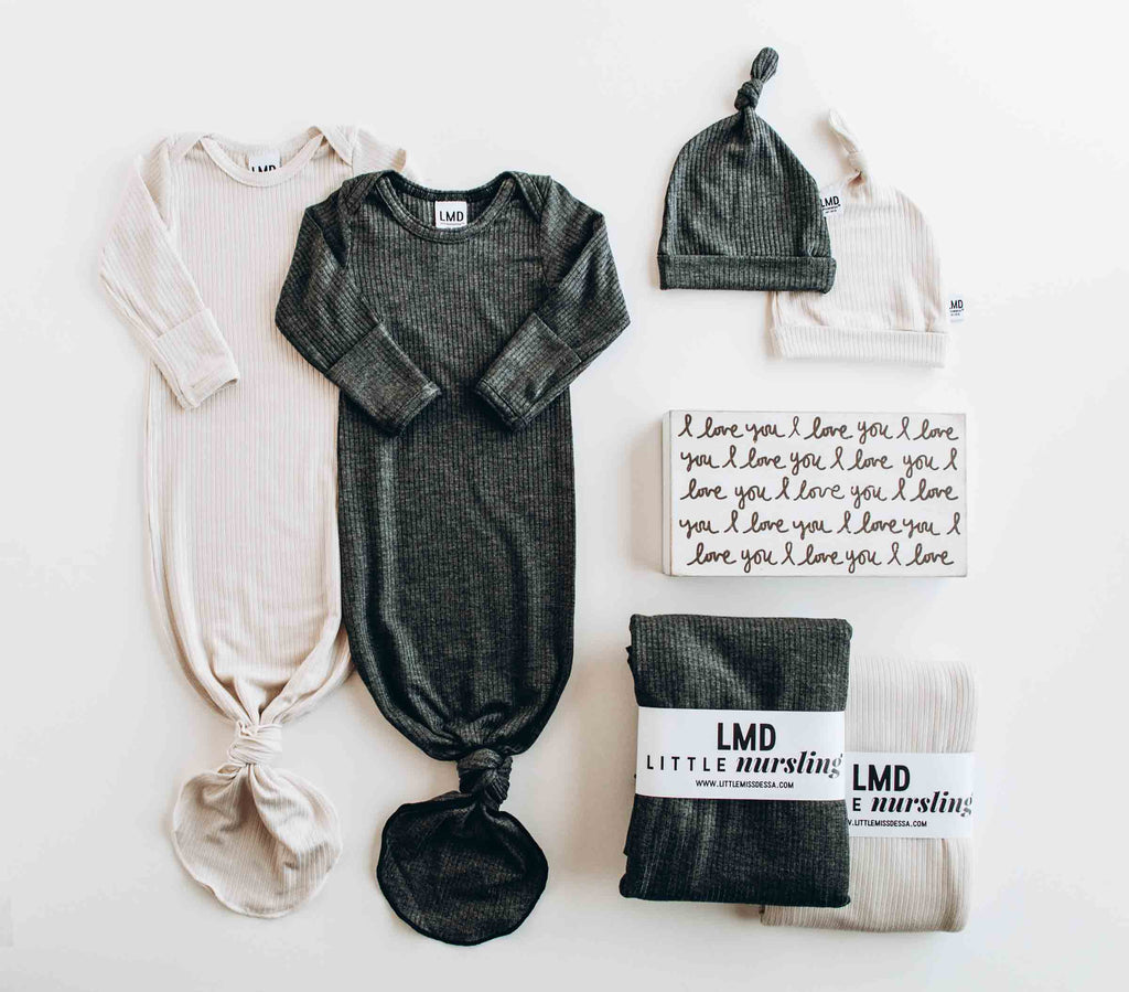 knotted baby gowns -- littlemissdessa