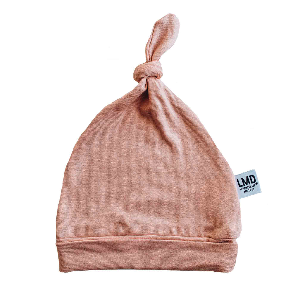 Newborn Baby Knotted Hat | Dusty Mauve