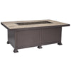 "O.W. Lee Santorini Outdoor Patio 30"" x 50"" occasional Fire Table is available at Jacobs Custom Living."