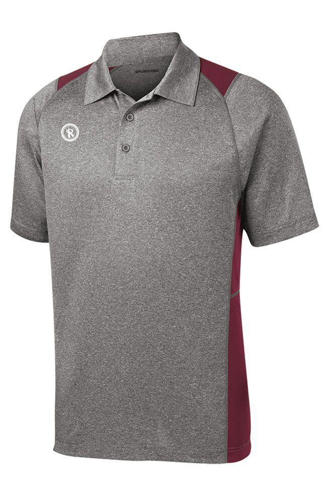 Mens Heather Colorblock Contender Polo | ST665, - Rox Volleyball
