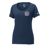 Monogrammed Nike Scoop Neck Tee