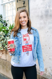 Monogrammed Okay But First Presents Long Sleeve Shirt