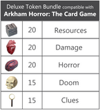 Deluxe Token Bundle compatible with Arkham Horror™ : The Card Game