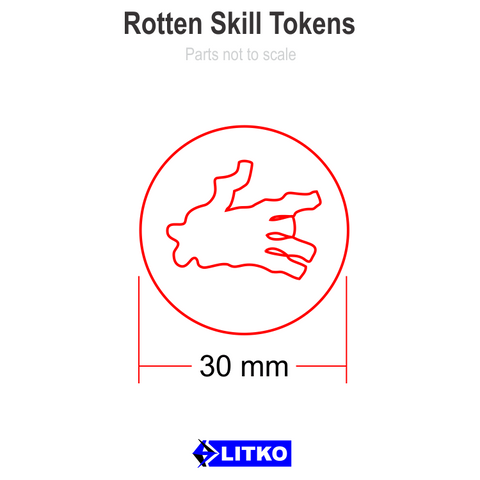 Rotten Skill Tokens (5) [clearance]