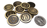 Atomic Coins Set in Burgundy Bag (set of 50)