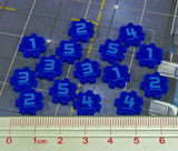 Identification Tokens #1-5, Blue (set of 15)