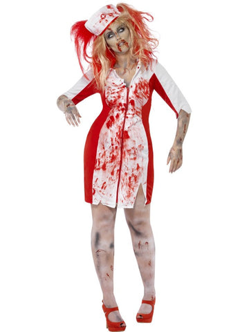 Curves Zombie Nurse, costume Dress and Headpiece
