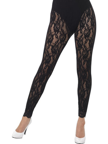 80's Lace leggings, Black