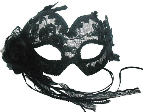Black Transparent Flowery Eye Mask